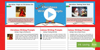 KS1 Christmas Writing Prompts Resource Pack - y1, y2, spag, writing activity, stimulus, stimuli, xmas, creative writing, narrative, information te