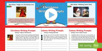 KS1 Christmas Writing Prompts Resource Pack - y1, y2, spag, writing activity, stimulus, stimuli, xmas, creative writing, narrative, information te
