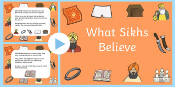 What Sikhs Believe PowerPoint and Worksheet - what sikhs believe, sikhs, powerpoint, worksheet, sikhs powerpoint, sikhs worksheet, religion