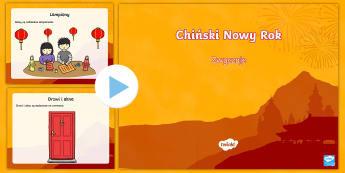 Prezentacja PowerPoint Chiński Nowy Rok - chiny, nowy, rok, chiński, Azja, chinach, święto, święta, prezentacja, zwyczaje, obyczaje, zima