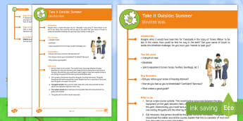 KS2 Take It Outside: Summer Blindfold Walk Activity - Forest School, Nature Detectives, trust, emotions, senses, obstacle course, outdoor, woodland learning, twinkl outdoor and woodland learning owl get it