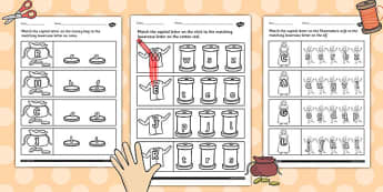 The Elves and the Shoemaker Themed Capital Letter Match Worksheet