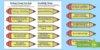 Pencil Themed Diary Entry Writing Prompt Communication Fan English/German - write, essay, EAL, German, English-German,,German-translation