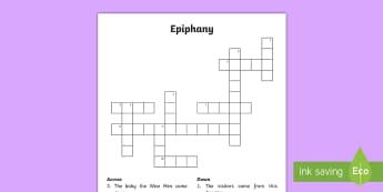 KS1 Epiphany Crossword - KS1 Epiphany, Epiphany crossword, clues, Epiphany answers, year 1, Year 2, y1, y2, crossword, epipha