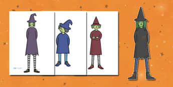 Editable Halloween Witches (A4) - Editable Halloween Witches, witches, A4, display, poster, Halloween, pumpkin, witch, bat, scary, black cat, mummy, grave stone, cauldron, broomstick, haunted house, potion, Hallowe'en