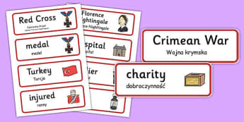 Florence Nightingale Word Cards Polish Translation - polish, florence nightingale, word cards