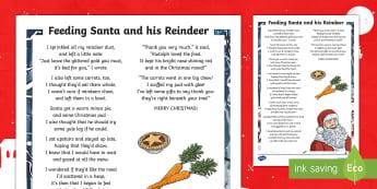Feeding Santa and His Reindeer Poem - reindeer food, reindeer food poem, reindeer dust, father christmas christmas poetry