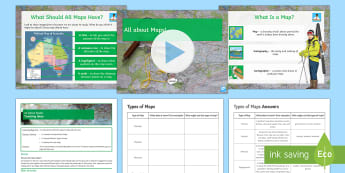 Map Skills Lesson 1: All About Maps!  - ks3, Maps, political maps, Physical Maps, Topographical Maps, Thematic Maps, Road maps