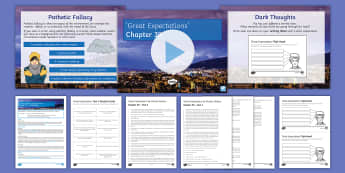 Great Expectations Chapter 39 Lesson Pack - Great Expectations, Charles Dickens, Pip, Magwitch, Convict, Pathetic Fallacy, Jaggers, Estella, Mis