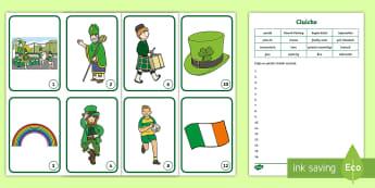 Seachtain na Gaeilge Word Hunt Game Gaeilge - Cluiche, Saint Patrick's Day, Irish, Irish week, teamwork