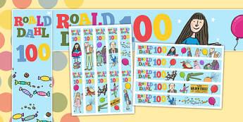 Roald Dahl 100 Display Borders