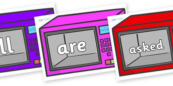 Tricky Words on Microwaves - Tricky words, DfES Letters and Sounds, Letters and sounds, display, words
