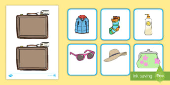 Vacation Clothes Sorting Activity - weather, sorting, cards, vacation, summer, holidays,