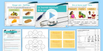 World Health Day (7th April) Lesson Pack French - santé, journée, mondiale, KS4, comprehension, ,French