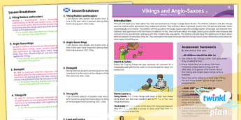 History: Vikings and Anglo-Saxons LKS2 Planning Overview CfE