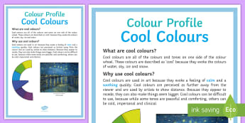 Colour Profile: Cool Colours Poster - colour, tone, display, bright, cool, sky, ice