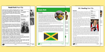 Biography Text Examples Resource Pack