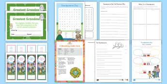Grandparents Day K-2 Activity Pack - Writing, Card, Craft, Grandparent's Day,  nanna, grandad