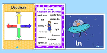 Geometry Position and Direction Display Pack KS1 Year 2 - geometry, position