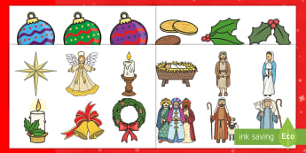 Christmas Garland Display Cut-Outs - KS1, Key Stage One, EYFS, Early Years Foundation Stage, Decorations, Themed, Festive, Festivity, Lea