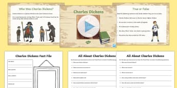 Charles Dickens Lesson Teaching Pack - significant individuals