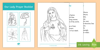 Mary in May Prayer Booklet - prayer book, Mary, Our Lady, Hail Mary, May, religion, altar, Queen of Angels, catholic, Christianit