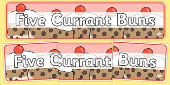 Five Currant Buns Display Banner - five currant buns, display banner, display, banner