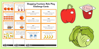 Fractions Shopping Role Play Pack - fractions, shopping, role-play, pack