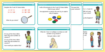 Exploring Patterns in the Two, Five and Ten Times Tables Differentiated Activity Sheets - Multiplication and Division, 5x, 2x, 10x, multiplication tables, times tables, year 2, Recall and us
