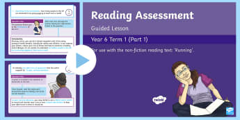 Year 6 Reading Assessment Non Fiction Term 1 Guided Lesson PowerPoint - Reading Assessment PowerPoints, SATs, practice, reading comprehension, running, guided reading