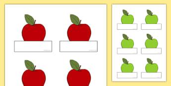 Editable Apples Self-Registration - apples, self registration