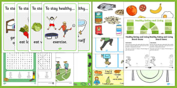 Taking Care of My Body Resource Pack - personal hygiene, PSHE, washing hands, healthy eating, Excercise