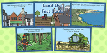 Land Use Fact Cards - land use, fact card, fact, cards, land, use