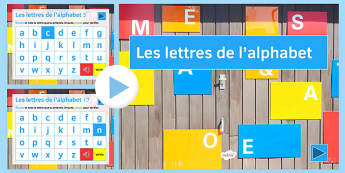 Alphabet Audio PowerPoint French -  letters, sounds, pronunciation, speaking, oral, Spelling
