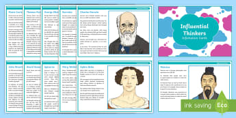 Humanist Influential Thinkers Information Cards - Humanism, non-religious, worldview, world view, RE, religious education, Mencius, darwin, aphra behn