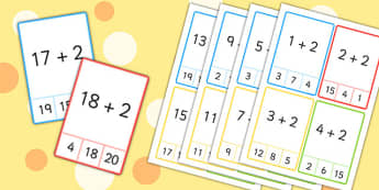 Plus 2 Peg Cards to 20 - plus 1, peg, cards, 20, numeracy, maths