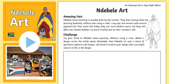 An Amazing Fact Day South Africa - Ndebele Art  Activity Pack - ZA Braai Day - Heritage Day (24/09/17)