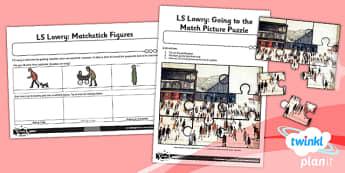 Art: LS Lowry KS1 Unit Home Learning Tasks