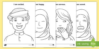 My Feelings Colouring Pages - My Feelings, My emotions, All About me, All About me UAE, All About Me Middle East