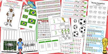 KS1 Football World Cup Maths Activity Pack - sports, numeracy, pe