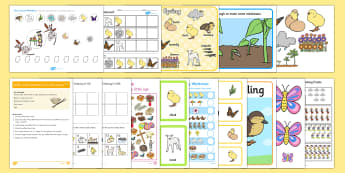 Spring Early Childhood Printable Resource Pack - Spring, First day of Spring, Writing, story, spring, seasons, weather, animals, growth, resources,