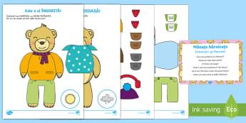 Mânuțe hărnicute: Îmbracă-l pe Martinel! Pachet cu activități - haine, anotimpuri, activități, îmbrăcăminte, vremea, starea vremii, Romanian