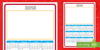 2018 Christmas Gift Calendar  - 2018, calendar, christmas gift, christmas, new year, year, dates, worksheet, present, homemade,