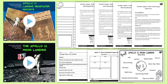 Apollo 11 Moon Landing Report Teaching Pack - apollo 11, space