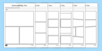Summarising and Retelling Comic Storyboard Template