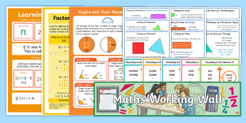 UKS2 Maths Working Wall Display Pack - examples, reminders, hints and tips, strategies, year 5 and year 6
