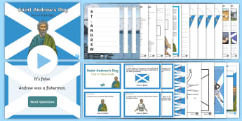 St Andrew's Day Second Level Resource Pack - Saing Andrew, St Andrew, 30th November, Scotland, Patron saint