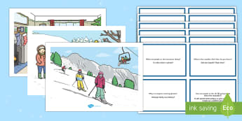 Winter Scenes and Question Cards Pack English/Polish - Winter Scenes and Question Cards Pack - winter scenes, question cards, pack, wnter, wintre,Polish-tr