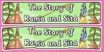 The Story of Rama and Sita Display Banner - diwali, hinduism