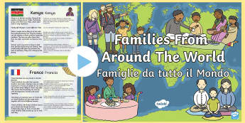 My Family KS1 Families around the World PowerPoint English/Italian - My Family KS1 Families Around The World PowerPoint Presentation, Family's, pp, ppt